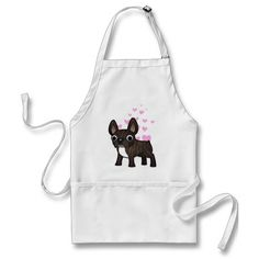French Bulldog Love (black brindle bicolor) Aprons