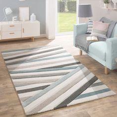 Designer Teppich Wohnzimmer Teppiche Kurzflor Meliert Grün Grau ... Wohnzimmer Creme Grun