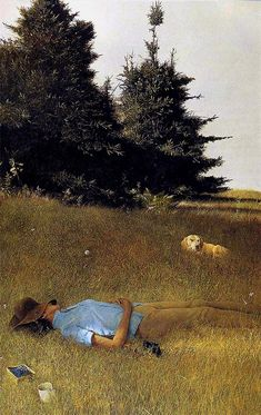 Andrew Wyeth 'Distant Thunder' 1961 tempera paint by Plum leaves