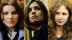 Yekaterina Samutsevich, Nadezhda Tolokonnikova, Maria Alekhina // Pussy Riot