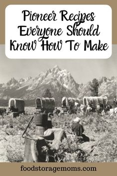 Pioneer Recipes Everyone Should Know How To Make Food Storage Moms is part of Food recipes - Have you made pioneer recipes your ancestors made years ago The pioneers didn't have grocery stores so they had to use ingredients they had at the time Emergency Food, Survival Food, Survival Prepping, Homestead Survival, Emergency Preparedness, Survival Skills, Emergency Planning, Survival Stuff, Outdoor Survival