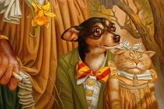 Naughty Betty, Jack and Judy 2007 (portrait detail) by Donald Roller Wilson by Wonderlane, via Flickr