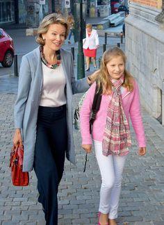 Reina Matilde con su hija Elisabeth de Belgica
