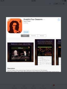 Vivaldi's Four Seasons app:performance + sheet music + commentary
