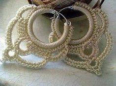 Beautiful Crochet ** Earrings ** With Special Thanks to a free pattern by M. Crochet Jewelry Patterns, Crochet Earrings Pattern, Crochet Accessories, Crochet Jewellery, Thread Crochet, Crochet Crafts, Crochet Projects, Crochet Flowers, Crochet Lace