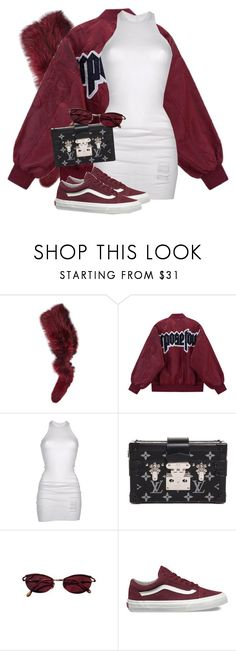 """""""Untitled #3728"""" by xirix ❤ liked on Polyvore featuring Charlotte Simone, DRKSHDW, Louis Vuitton, Jean-Paul Gaultier and Vans"""