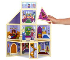 Build & Imagine's Creativity Castle panels are magnetic, so you can create the castle structure any way you want. Four floors? No problem! Sprawling grounds? Lets do it! Build & Imagine promises hours of endless, imaginative play.