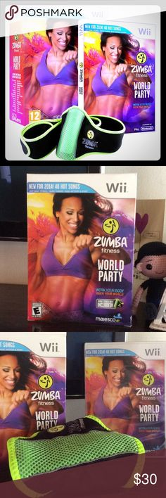 Zumba Fitness World Party (Wii) Good Condition included Zumba fitness belt. Wii Other