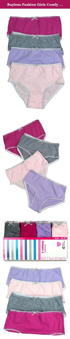 c83221204ba Buyless Fashion Girls Comfy 100% Cotton Briefs In A Variety Of Colors (4  Pack
