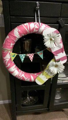 pool noodle wreath flip flop