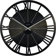 Lincoln Black Cut Out Wall Clock 60cm