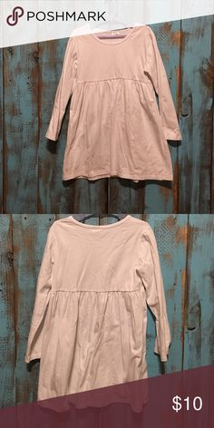 NWOT Plain white babydoll tunic top girls size 8 New without tags. Little girls size 8 Shirts & Tops Tees - Long Sleeve