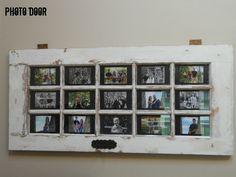Repurposed door found on Craigslist to a beautiful frame: Photo Door
