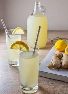 M Jengibre con agua de limón para dietas reductoras