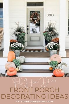 To help you update your home for fall, we gathered together some of our favorite looks to inspire your own seasonal front porch decor. Seasonal Decor, Fall Decor, Holiday Decor, Home Design Diy, Diy Home Decor, Front Porch Plants, Diy Projects On A Budget, Farmhouse Front Porches, Traditional Decor