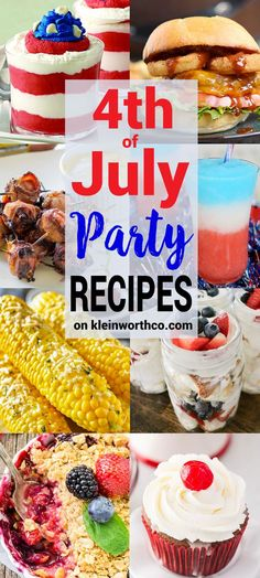 of July Party Recipes designed to impress. Grilling recipes, drinks & desser… of July Party Recipes designed to impress. Grilling recipes, drinks & desserts all quick & easy so you can have a fantastic holiday & WOW your crowd. 4th Of July Desserts, Fourth Of July Food, 4th Of July Celebration, 4th Of July Party, Fourth Of July Recipes, Patriotic Party, 4th Of July Ideas, Party Recipes, Holiday Recipes