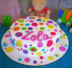 tortas y pasteles infantiles - Buscar con Google Girls First Birthday Cake, First Birthday Cakes, 8th Birthday, Christening Food, Neon Cakes, Baby Girl Cakes, Love Cake, Cute Cakes, Fondant