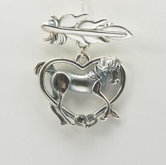 Sterling Silver Arabian Horse Pin Silver by DonnaPizarroDesigns