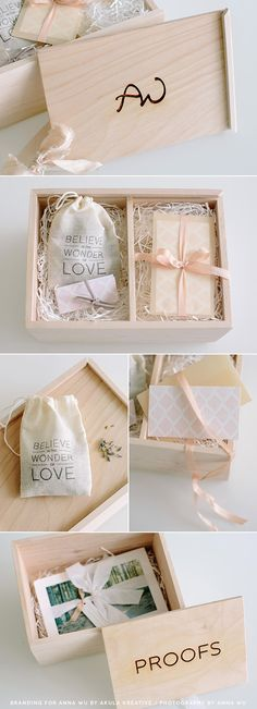 http://teds-woodworking.digimkts.com/ awesome i want to make one myself dyi woodworking decor Anna Wu Photography Packaging Suite // engraved wooden box, branded gift tags and thank you card, silk and velvet ribbons...plus a hidden compartment for prints // Akula Kreative
