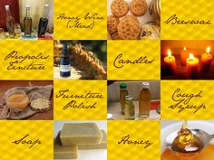 Things you can make with honey-bee products: honey, beeswax & propolis