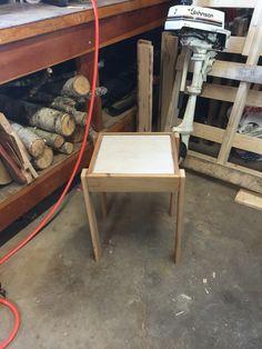 Simple barn wood side table
