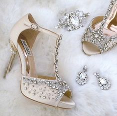 Calling all Bling Queens! Our newest shoe arrivals from Badgley Mischka are for you. Pair them with fantastic jewelry from Cheryl King Couture & Erin Cole and you have everything you need #afterthedress.