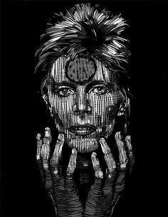David Bowie Ziggy Daddy Go, David Bowie Ziggy, Darth Vader, Batman, Superhero, Rock, Stars, Illustration, Portraits