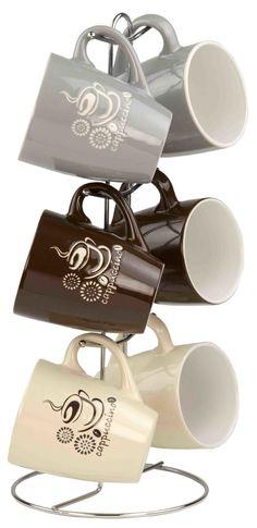 Stoneware Cappuccino Mugs