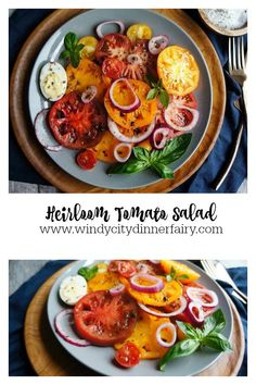 Heirloom Tomato Salad - The Windy City Dinner FairyThe Windy City Dinner Fairy