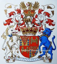Coats of Arms, Heraldry, Heraldic Art & Illuminated Manuscripts painted by English Artist Andrew Stewart Jamieson in 2012.