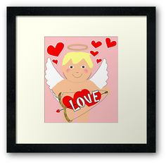 Such a cute funny cartoon style character inspired by cherubs and cupids; an ideal graphic for Valentines day.  Treat someone you love to a fun gift to show them how much you care. • Also buy this artwork on wall prints, apparel, stickers, and more.