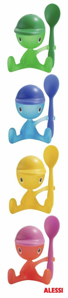 'cico' egg cup and spoon. Available at Geoffrey Drayton Epping in pink, blue, green and yellow. An ideal egg for children as they're made of plastic!