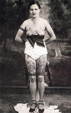 missschmerz: Early Unusual tats!  Artist Unknow, early 20th, century  http://missschmerz.tumblr.com/