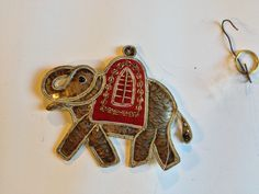 Hindu India Elephant Christmas Ornaments Unique Cloth Silver Color Hand Made 67 | eBay