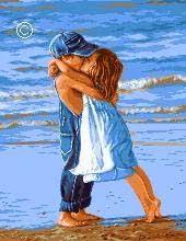 ru / Photo # 1 - For children)) :)) - tastr Arte Latina, Modern Cross Stitch Patterns, Beach Scenes, Beautiful Children, Painting & Drawing, Watercolor Art, Art For Kids, Art Drawings, Children Kissing