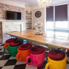 Tea Cup Stool - Oversized Quirky Designer Furniture - Alice in Wonderland in Home, Furniture & DIY, Furniture, Stools & Breakfast Bars Funky Furniture, Unique Furniture, Living Room Furniture, Furniture Design, Urban Furniture, Oversized Furniture, Concrete Furniture, Primitive Furniture, Furniture Showroom