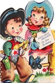 1950's birthday card