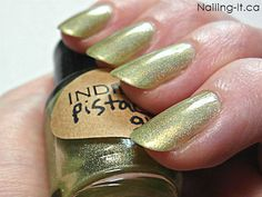 Holographic nail polish  Pistachio Glow  large and by IndiePolish, $5.25