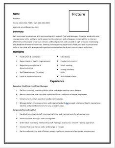 13 chef resume templates free printable word pdf samples