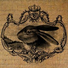 Easter Gorgeous Rabbit Face In Crown Frame Digital by Graphique, $1.00