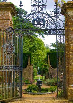 Iron gate entry to a garden
