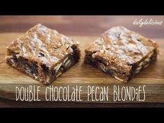 dailydelicious: Double chocolate Pecan blondies