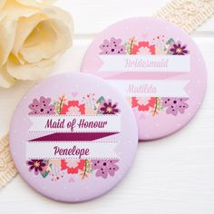 Personalised 'will you be my bridesmaid' By JoanneHawker #BridesMaidGift #WillYouBeMyBridesmaid #CantSayIDoWithoutYou #PocketMirror