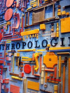 Anthropology, furniture pieces, window display