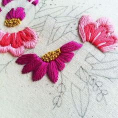 Wonderful Ribbon Embroidery Flowers by Hand Ideas. Enchanting Ribbon Embroidery Flowers by Hand Ideas. Embroidery Designs, Embroidery Materials, Hand Embroidery Stitches, Crewel Embroidery, Modern Embroidery, Embroidery Techniques, Embroidery Kits, Ribbon Embroidery, Cross Stitch Embroidery