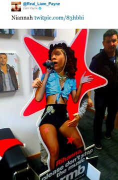 Niall as Rihanna. From One Direction