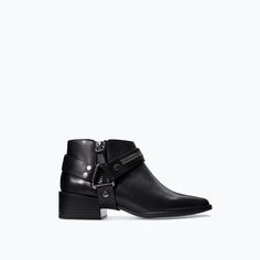 ZARA - SHOES & BAGS - LEATHER BOOTIE WITH ZIP AND BUCKLES.... maybe?