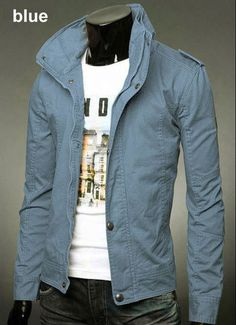 Fashion Brand Cotton Jackets For Men, 6 colors, M-3XL