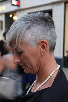 Image result for grey hair styles for 40s