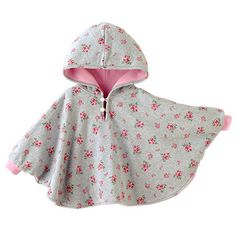 New Fleece Baby Winter Coat Babe Cloak Two-sided Outwear Floral Baby Poncho Infant Boy Girls Jacket Warm Children Clothing Baby Hoodie, Baby Poncho, Kids Poncho, Poncho Coat, Warm Outfits, Kids Outfits, Baby Boy Fashion, Kids Fashion, Girl Clothing